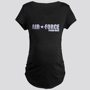 USAF Niece Maternity Dark T-Shirt