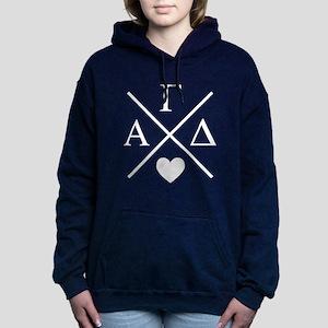 Alpha Gamma Delta Letter Women's Hooded Sweatshirt