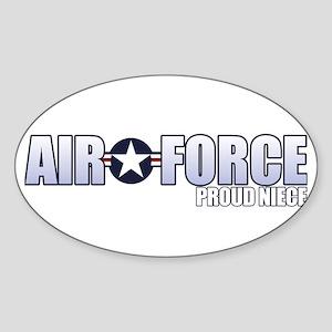 USAF Niece Sticker (Oval)