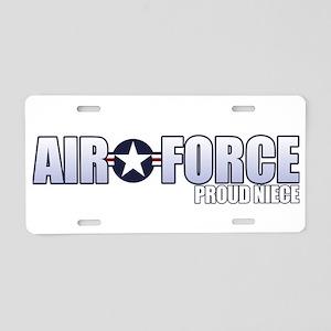USAF Niece Aluminum License Plate