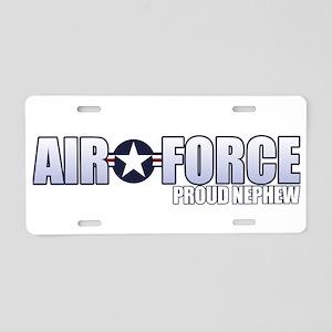 USAF Nephew Aluminum License Plate