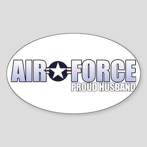 USAF Husband Sticker (Oval)