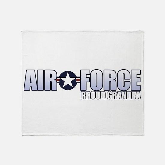 USAF Grandpa Throw Blanket