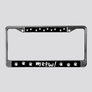 Meow! Cat-Themed License Plate Frame