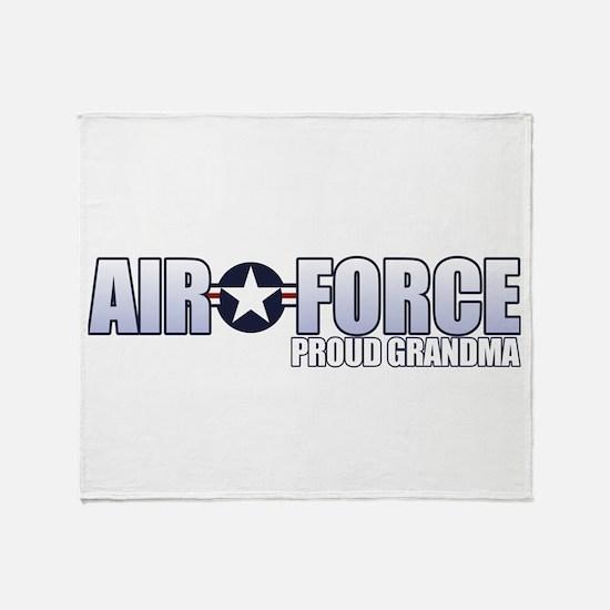 USAF Grandma Throw Blanket