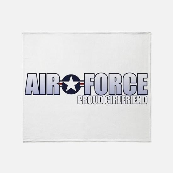 USAF Girlfriend Throw Blanket