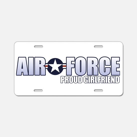 USAF Girlfriend Aluminum License Plate