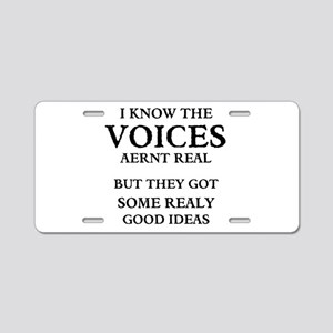 VOICES Aluminum License Plate