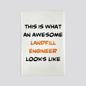 awesome landfill engineer Rectangle Magnet