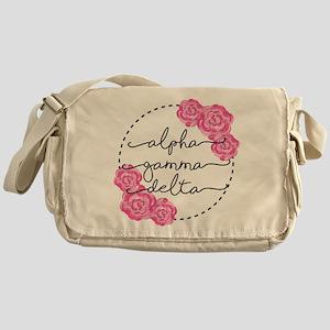 alpha gamma delta floral Messenger Bag