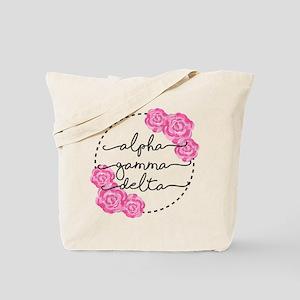 alpha gamma delta floral Tote Bag