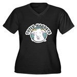 Totes MaGoats Women's Plus Size V-Neck Dark T-Shir