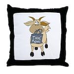 Funny Goats - Totes MaGoats Throw Pillow