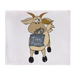 Funny Goats - Totes MaGoats Throw Blanket