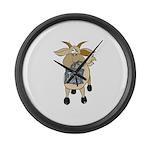 Funny Goats - Totes MaGoats Large Wall Clock