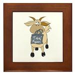 Funny Goats - Totes MaGoats Framed Tile