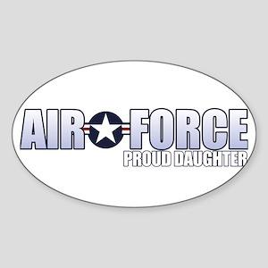 USAF Daughter Sticker (Oval)