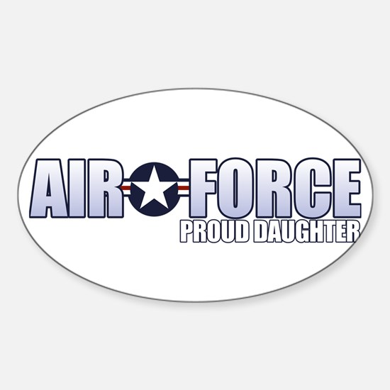 USAF Daughter Sticker (Oval)