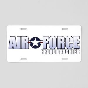 USAF Daughter Aluminum License Plate