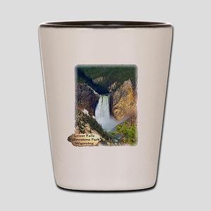 Lower Falls, Yellowstone Park 3 Shot Glass