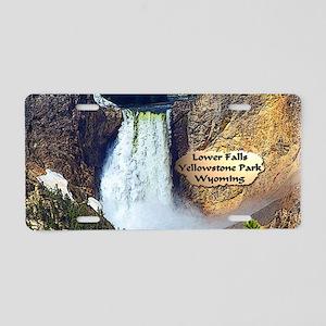 Lower Falls, Yellowstone Park 3 Aluminum License P