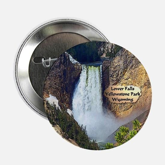 "Lower Falls, Yellowstone Park 3 2.25"" Button"