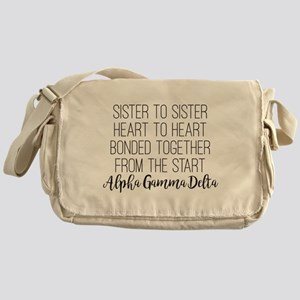 Alpha Gamma Delta Sister Messenger Bag