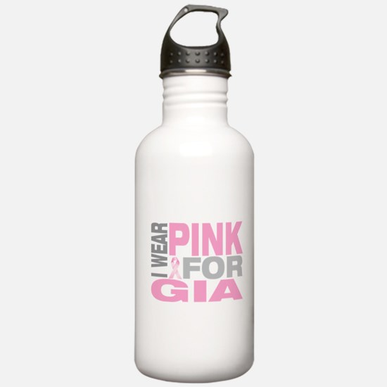 I wear pink for Gia Water Bottle