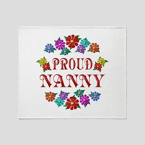 Proud Nanny Throw Blanket