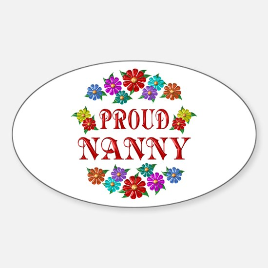 Proud Nanny Sticker (Oval)