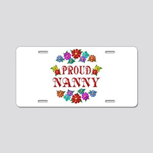 Proud Nanny Aluminum License Plate