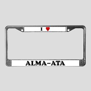 I Love Alma-Ata License Plate Frame