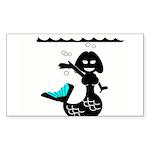 Cute Mermaid Muriel MacBubble Sticker (Rectangle 1