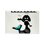 Cute Mermaid Muriel MacBubble Rectangle Magnet (10