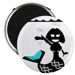 Cute Mermaid Muriel MacBubble Magnet
