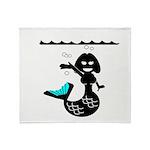 Cute Mermaid Muriel MacBubble Throw Blanket