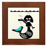 Cute Mermaid Muriel MacBubble Framed Tile