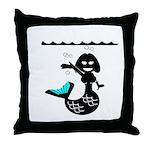 Cute Mermaid Muriel MacBubble Throw Pillow