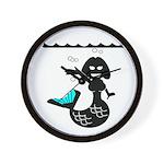 Cute Mermaid Muriel MacBubble Wall Clock