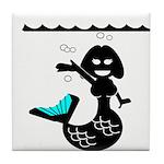 Cute Mermaid Muriel MacBubble Tile Coaster