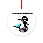 Cute Mermaid Muriel MacBubble Ornament (Round)