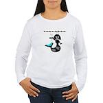 Cute Mermaid Muriel MacBubble Women's Long Sleeve