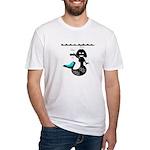 Cute Mermaid Muriel MacBubble Fitted T-Shirt