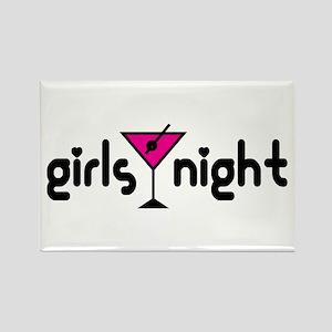 Girls Night Pink Martin Rectangle Magnet (10 pack)