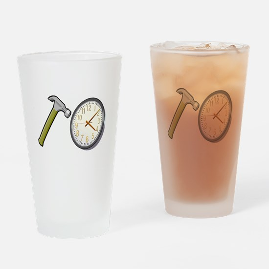 Hammer Time Drinking Glass