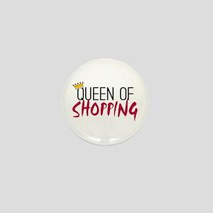 'Queen of Shopping' Mini Button