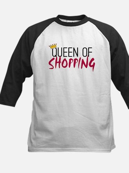 'Queen of Shopping' Kids Baseball Jersey