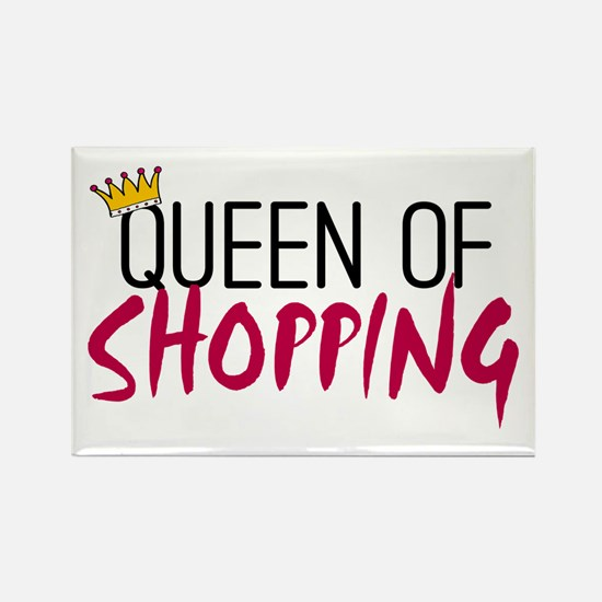 'Queen of Shopping' Rectangle Magnet (10 pack)