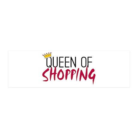 'Queen of Shopping' 21x7 Wall Peel