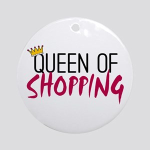 'Queen of Shopping' Ornament (Round)